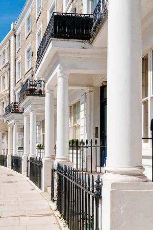 Victorian houses in Notting Hill in London Stock Photo