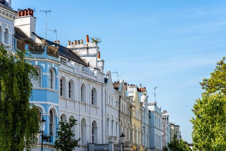 Victorian houses in Notting Hill in London