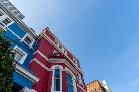 Colourful townhouses in Notting Hill in London Stock fotó