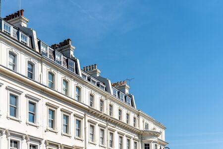 Viktorianische Häuser in Notting Hill in London Standard-Bild