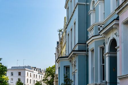 Victorian houses in Notting Hill in London Zdjęcie Seryjne