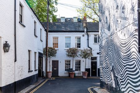 Townhouses in alley  in Notting Hill in London