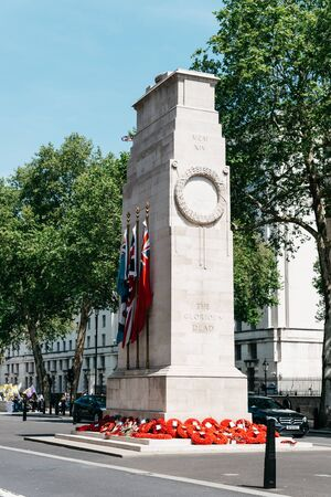 View of the The Cenotaph memorial in London Sajtókép
