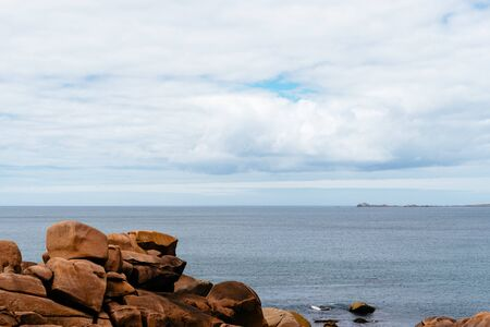Rock formations in Pink Granite Coast, France