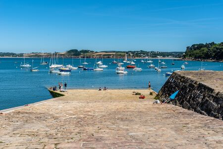 The fishing port of Douarnenez in Brittany 報道画像