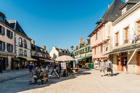 The walled medieval town of Concarneau, France