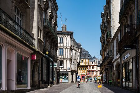 Street scene in historical centre of Vannes
