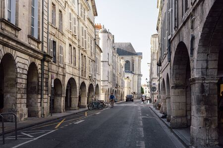 The old town of La Rochelle in France