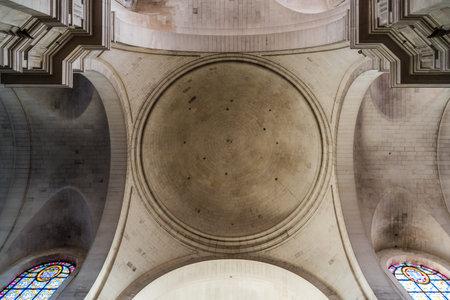 Interior view of the domeof La Rochelle Cathedral