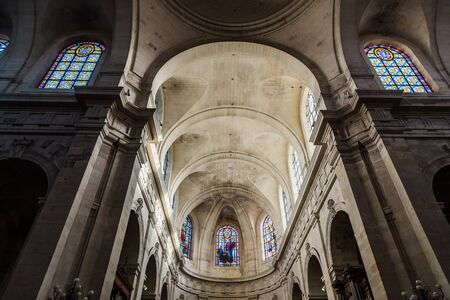 Interior view of the vaults of La Rochelle Cathedral