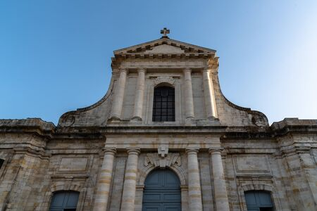 Exterior view of La Rochelle Cathedral against sky