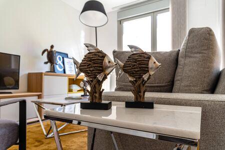 Stylish contemporary living room interior with sofa
