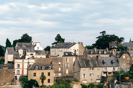 Aerial view of the medieval town of Dinan