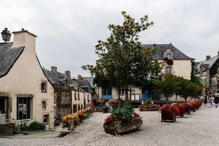 View of the picturesque village of Rochefort-en-Terre in Brittany