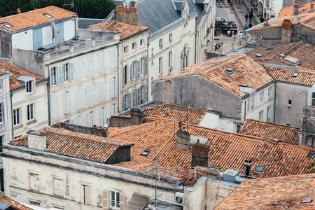 High Angle View of roofs in the center of La Rochelle