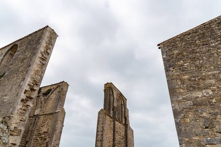 The ruin of the old abbey in the Island of Re