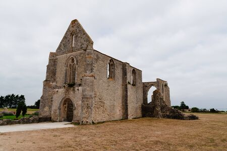 The ruin of the old abbey in the Island of Re Stock fotó