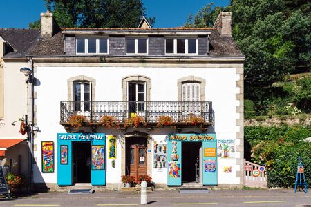 Painting gallery in traditional house in Pont-Aven