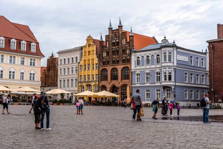 Scenic view of the old town of Stralsund