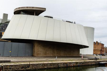 The Ozeaneum aquarium museum in Stralsund, Germany