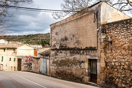 Street in the medieval town of Pastrana in Spain