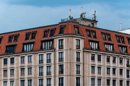 Exterior Facade of Residential Building in Berlin Mitte