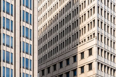 Full frame pattern of windows in office building. Abstract background Фото со стока