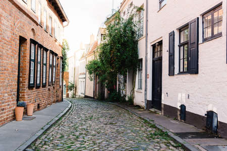 Narrow street in the old town of Lubeck