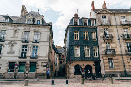 Old buildings in historic centre of Rennes