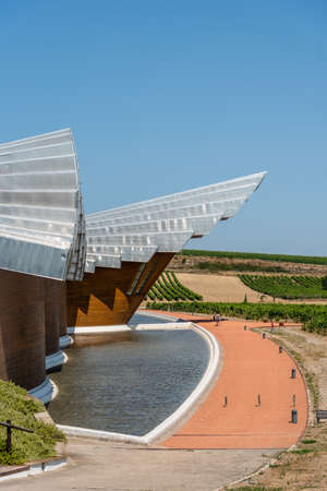 Futuristic architecture winery of Ysios in Alava