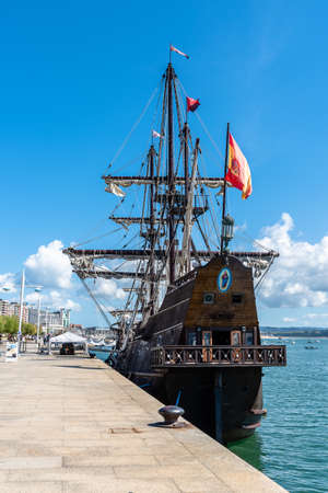 Andalucia Galleon in the port of Santander Editorial