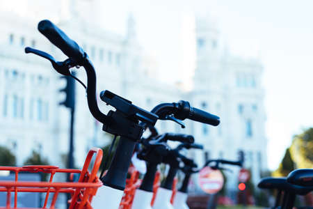 Electric bicycles for hire in Madrid