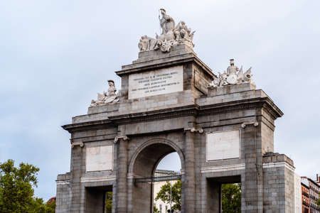 View of Puerta de Toledo in Madrid Standard-Bild