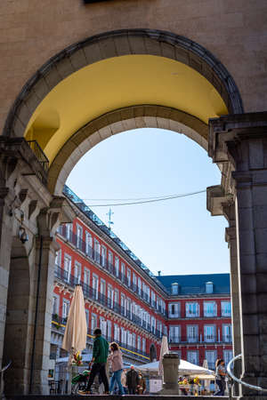 The Plaza Mayor or Main Square of Madrid Editorial