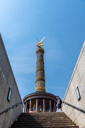 Victory Column, Siegessaeule, in Tiergarten Park in Berlin Editorial