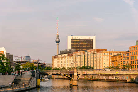 Cityscape of Berlin from Spree River, Germany
