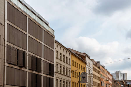 Apartment buildings in central Berlin in Germany