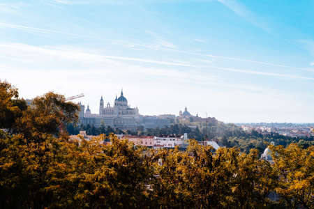 Cityscape of Central Madrid during Autumn, Spain