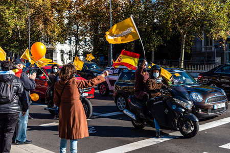 Pacific protesters during demonstration against new Spanish Education Law