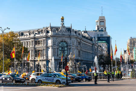 Cibeles Square in Madrid during demonstration against Celaa Education Law