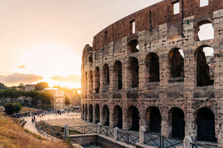 Outdoor view of The Colosseum or Coliseum in Rome Standard-Bild