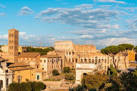 View of Forum of Rome and Colosseum Standard-Bild