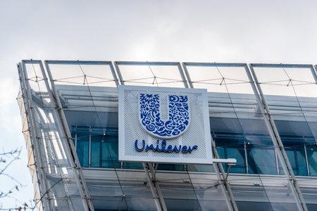Unilever company office in HafenCity Area of Hamburg