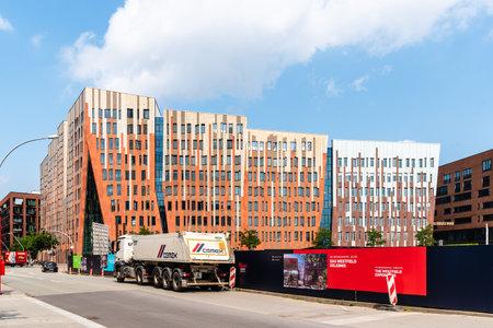 New residential development in HafenCity Area of Hamburg