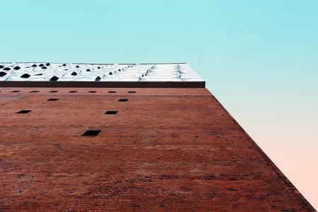 Low angle view of Elbphilharmonie Hamburg, Germany