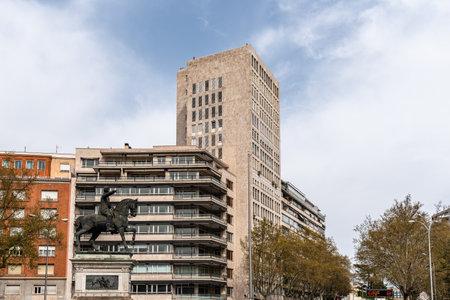 Marquis of the Duero square in Madrid Stockfoto