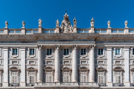 Main facade of Royal Palace of Madrid