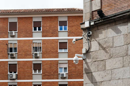 Video Surveillance Cameras Against Residential Building in Madrid