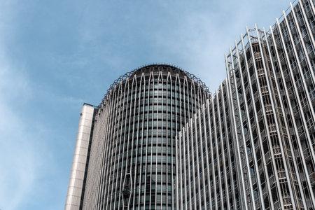 Torre Europa office building skyscraper in AZCA, Madrid