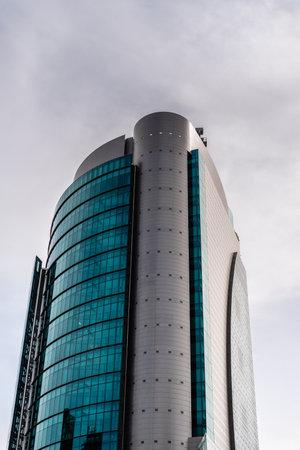 Titania Tower Skyscraper in AZCA Area in Madrid Editorial